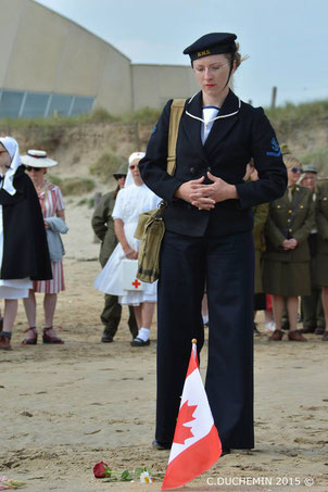 Women Gathering à Utah Beach - Organisé par Women During WW2.
