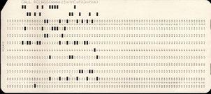 Une ligne de code d'un programme (en clair en haut)