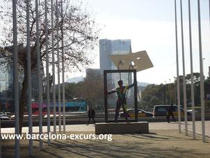 Уличная скульптура Барселоны - Марк