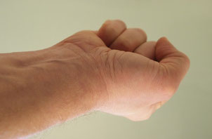 Hand Muskelanspannung