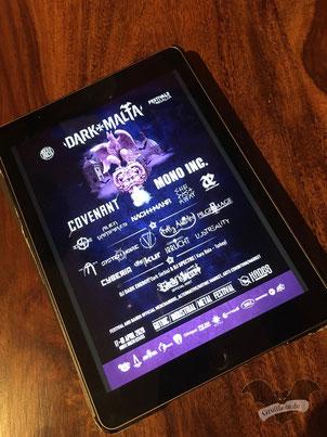 Digitale Ansicht des Flyers zum Dark Malta-Festival 2020 / Foto: Batty Blue