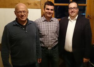Sven Wingerter (Mitte) mit Udo Klos (links), Fraktionsvorsitzender der SPD in der Gemeindevertretung Wald-Michelbach und Dr. Sascha Weber (rechts), Ortsvereinsvorsitzender der SPD Wald-Michelbach.