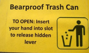 Not the kind of signs you see on trashcans where I live!!!