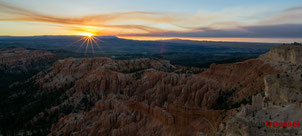 Sunrise from Inspiration Point at Bryce Canyon National Park, Utah, USA.