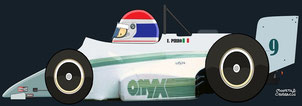 Emanuele Pirro by Muneta & Cerracín - Oxyx 85B - Cosworth