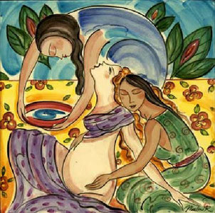 Doula artwork by Marlene L'Abbe; waterspider.net