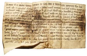 Urkunde mit Ersterwähnung