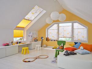 Plisse - Faltvorhang Dachschräge Kinderzimmer