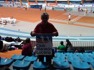 Manolo Lara Buendía en el Palacio de los Deportes de Zaragoza.