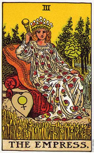 La Emperatriz número 3 en la baraja de tarot, interpretación