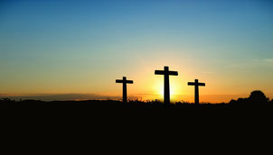 Jesus Leidensweg, Kreuzigung und Tod - sowie Trauer am Karfreitag.