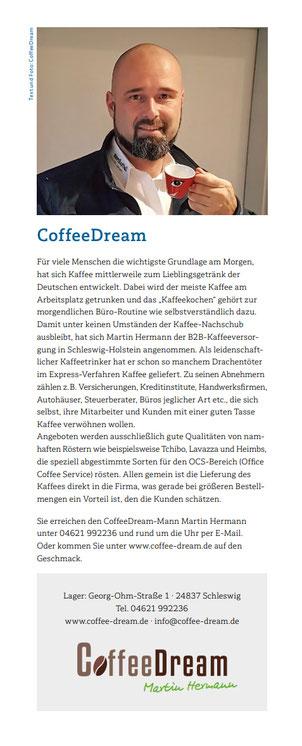 CoffeeDream Inhaber Martin Hermann Kompass Stankt Jürgen Drachentöter Schleswig