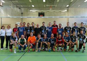 Die Halbfinalisten VC Eltmann und VC-DJK Passau II