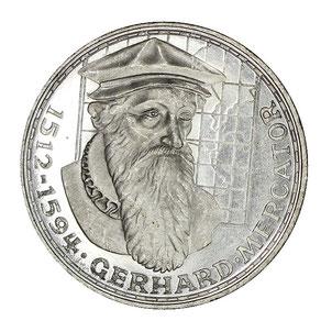 Silbermünze Duisburg Mercator