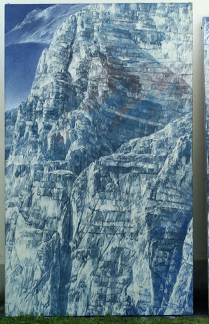 Josef Taucher, Abtragung XXXV, 1983, Öl/Molino, 450 x 250 cm (Triptychon, linke Tafel), Foto © P. Gottwald