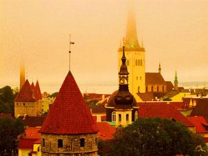 Tallin - berühmt für seine vielen Kirchtürme