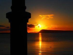 Sonnenaugang in Fishguard - England