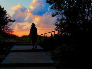 nur noch wenige Augenblicke bis zum Sonnenuntergang