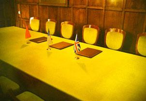 an diesem Tisch wurde das Jalta-Abkommen unterzeichnet