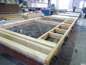 Production of an energy efficient timber house wall at Stommel Haus