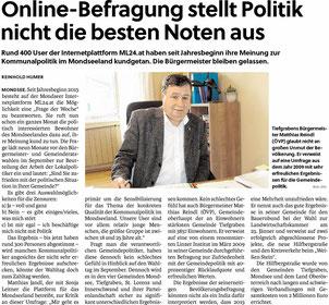 Artikel Flachgauer Nachrichten Feb. 2015