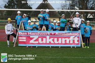 Jugend des SSC Teutonia wirbt für Handwerksberufe