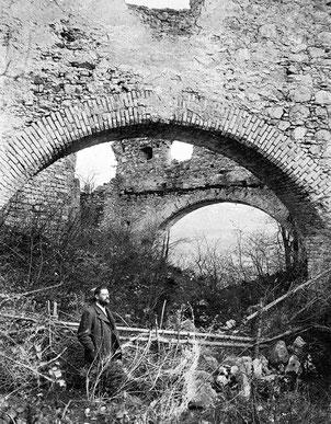 Ansicht der Bogenmauern von Norden, Fotografie um 1905