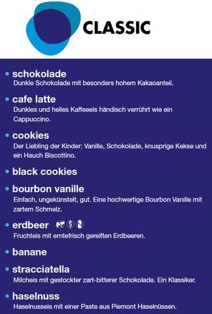 Klassische Eissorten und Speiseeis in Salzburg