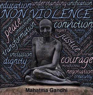 Mahatma Gandhi       -      Gewaltlosikkeit und Fieden