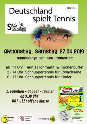"""SKG Stockstadt Tennis Aktionstag """"Deutschland spielt Tennis"""""""