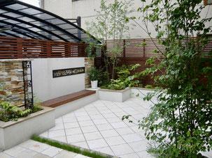 名古屋市北区T様邸 お手入れの少ないヨーロピアンガーデン