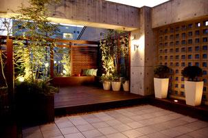 名古屋市北区T様邸 モダンヨーロピアンリゾートなお庭