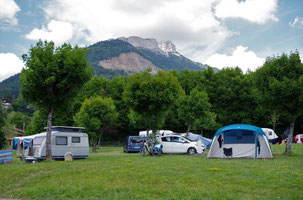 Accueil groupe tentes camping Sappey en Chartreuse