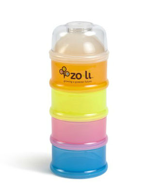 On-the-go snack container for travel with baby