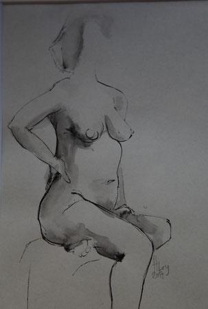 o.T., Tusche auf Papier, 16cm x 22cm, 2017