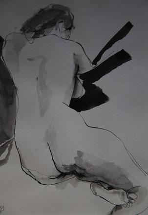 o.T., Tusche auf Papier, 16cm x 22cm, 2016