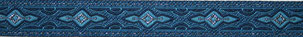 Borte silber blau, 16mm, Halsband HUnd
