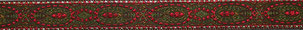 Borte rot grün, 15mm, Halsband Hund