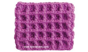 Punto waffle tejido a crochet (waffle crochet stitch)