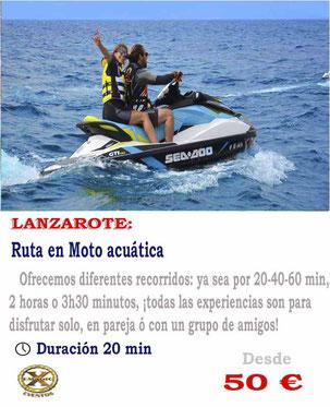 alquiler de motos acuáticas en Lanzarote