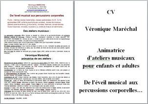 CV Véronique Maréchal animatrice atelier musical enfant adulte