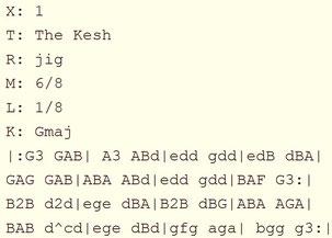 アイリッシュ音楽 楽譜 ABC譜