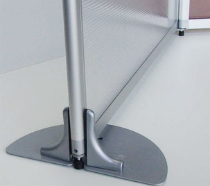 feet for office partition