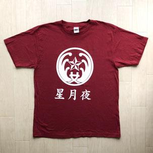 県立鎌倉高校バドミントン部のTシャツ星月夜