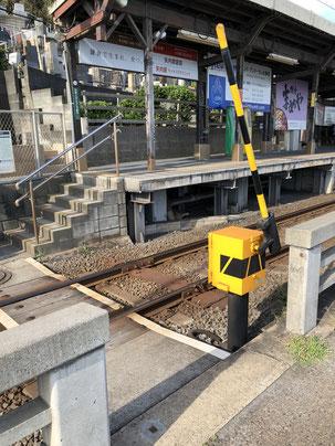 鎌倉高校前駅の超ミニサイズ踏切
