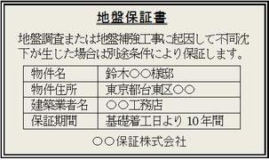 図―4 地盤保証書のイメージ