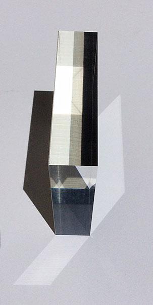 Bloque de metacrilato con 2,5 cm de grosor
