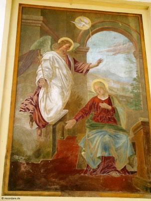 Wandgemälde Maria Verkündigung