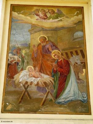 Wandgemälde Jesu Geburt