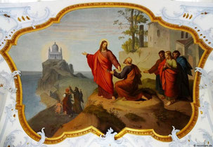 Schlüsselübergabe an Petrus, Basilika Vierzehnheiligen